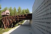 CATTLE-CAR MEMORIAL MEMORIAL TO DEPORTEES YAD VASHEM HOLOCAUST MUSEUM JERUSALEM ISRAEL