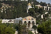 CHURCH OF ALL NATIONS RUSSIAN ORTHODOX CHURCH DOMES GETHSEMANE JERUSALEM ISRAEL