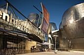 MAIN ENTRANCE GUGGENHEIM MUSEUM OF MODERN ART BILBAO BASQUE COUNTRY SPAIN