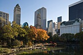 POND CENTRAL PARK SOUTH MANHATTAN NEW YORK CITY USA