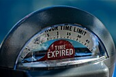 TIME EXPIRED ON ANALOG MECHANICAL PARKING METER