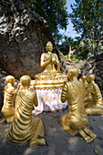 Buddha Statues On Phu Si Hill, Luang Prabang,Laos