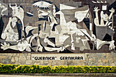 Reproduction Of Picasso's Guernica, Gernika-Lumo, Basque Country, Spain