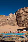 4X4 Jeeps At Wadi Rum (The Valley Of The Moon), Jordan, Middle East