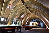 Casa Mila, Casa Milà, La Pedrera, indoors, architect Antoni Gaudi, UNESCO World Heritage Site Casa Milà, Catalan modernista architecture, Art Nouveau, Eixample, Barcelona, Catalonia, Spain