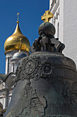 Tsar Bell, world's largest bell at the Moscow Kremlin on Cathedral square, Moscow, Russia, Europe