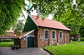 Old Island church, Spiekeroog Island, Nationalpark, North Sea, East Frisian Islands, East Frisia, Lower Saxony, Germany, Europe
