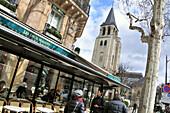 Cafe Deux Magots at St. Germain des Pres, Quartier Latin, Paris, France