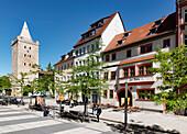 Johannis Street with Johannistor Gate, Jena, Thuringia, Germany