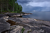 Weisse Nächte, Onegasee, Republik Karelien, Russland