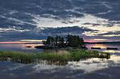 Morgendämmerung, Onegasee, Republik Karelien, Russland