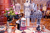 Shop window of a fashion boutique, Golden Triangle, Milan, Lombardy, Italy