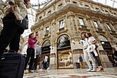 People shopping, Galleria Vittorio Emanuele II, Milan, Lombardy, Italy