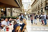 Cafe inside Galleria Vittorio Emanuele II, Milan, Lombardy, Italy