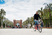 Arc de Triomf with people,Barcelona,Spain