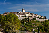 Medieval mountain top village of Saint-Paul-de-Vence, Alpes-Maritimes,  Provence-Alpes-Cote d'Azur, France