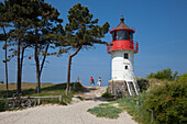 Lighthouse at Gellen, in the south of the island, Hiddensee island, National Park Vorpommersche Boddenlandschaft, Baltic Sea, Mecklenburg Western-Pomerania, Germany