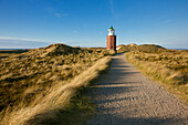 Old lighthouse Rotes Kliff, near Kampen, Sylt island, North Sea, North Friesland, Schleswig-Holstein, Germany