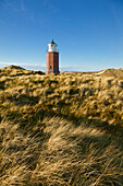 Old lighthouse Rotes Kliff, near Kampen, Sylt island, North Sea, North Friesland, Schleswig-Holstein, Germany