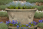Flora gardens at the temple of Flora, Woerlitz, UNESCO world heritage Garden Kingdom of Dessau-Woerlitz, Saxony-Anhalt, Germany