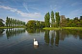 Rousseau island, Woerlitz, UNESCO world heritage Garden Kingdom of Dessau-Woerlitz, Saxony-Anhalt, Germany
