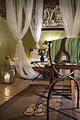 Guest room, Dar Les Cigognes, Marrakech, Morocco