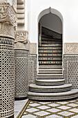 Courtyard detail, Riad Enija, Marrakech, Morocco