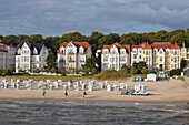 Architecture in the seaside resort of Bansin, Island of Usedom, Baltic Sea Coast, Mecklenburg Western Pommerania, Germany