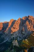 View from mount Stripsenkopf to Wilder Kaiser, Zahmer Kaiser, Kaiser mountain range, Tyrol, Austria