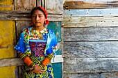 Kuna ethnic group village, San Blas archipelago, Kuna Yala Region, Panama, Central America, America