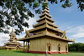 The Palace Shwebonyadanar Mingalar Nangdaw  Shwebo city  Sagaing Division  Burma  Republic of the Union of Myanmar.