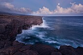 America, destination, Hawaii, island, lava, shore, volcano, wave, wild, T89-1628566, AGEFOTOSTOCK