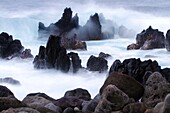 America, destination, Hawaii, island, lava, shore, volcano, wave, wild, T89-1628578, AGEFOTOSTOCK