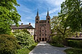 Westwork of Corvey Abbey, Hoexter, North Rhine-Westphalia, Germany, Europe