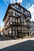 Traditional house in Homberg Efze on the German Fairy Tale Route, Hesse, Germany, Europe