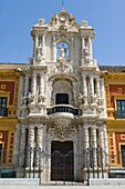 The Palace of San Telmo, Palacio de San Telmo, the seat of the presidency of the Andalusian Autonomous Government, Seville, Sevilla, Andalusia, Spain