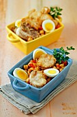 Monkfish with chickpeas