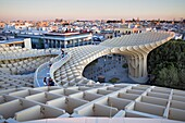 Structure and walkways on top of Metrosol Parasol, in Plaza de la Encarnación,Sevilla,Andalucía,Spain