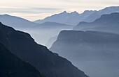 Etsch Valley and the Salurner Klause, a bottleneck in the gorge of river Etsch  The Salurner Klause is the traditional language border of the german and italian language  Until the end of the first world war it also was the border of the former Austrian e