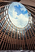 European Parliament seat, Louise Weiss building, Inner courtyard  Strasbourg, Alsace, France