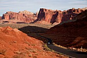 Scenic Drive through Capitol Reef National Park in Utah, United States of America, USA