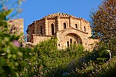 12th century Byzantine Orthodox Church of Hagia Sophia in the upper town ruins of Monemvasia           , Peloponnese, Greece