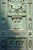 Bronze doors of the Porta Maggiore, by Amalia Dupre  Duomo of Florence, Basilica of Saint Mary of the Flower, Firenza  Basilica di Santa Maria del Fiore   Built between 1293 & 1436  Italy