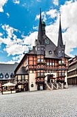 The City Hall of Wernigerode is considered one of the most beautiful City Halls in Europe, Wernigerode, Harz, Saxony-Anhalt, Germany, Europe