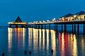 The Heringsdorf Pier is a pier at the Baltic Sea The pier is 508 meters long It was built in 1995, Heringsdorf, Usedom Island, County Vorpommern-Greifswald, Mecklenburg-Western Pomerania, Germany, Europe