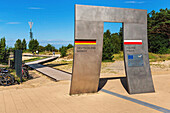 Border between Germany and Poland The border crossing is located between the Baltic resort Ahlbeck, municipality Heringsdorf, Usedom Island, County Vorpommern-Greifswald, Mecklenburg-Western Pomerania, Germany, Europe and the Polish Swinoujscie, West Pome