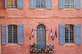 Front facade of the Hotel de Ville, Roussillon, Provence France