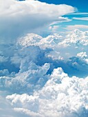 Aerial shots of clouds and airplanes