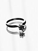 Diamond Engagement Ring on Mirror