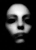 Abstract Female Face With Blurred Features